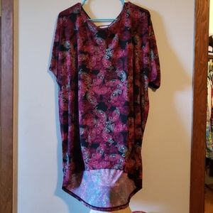 Gorgeous black, pink and white paisley silky irma